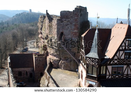 Castle of Haut-Barr in Alsace