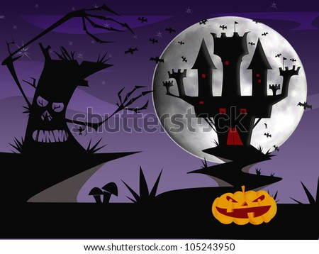Castle of illusion in Halloween