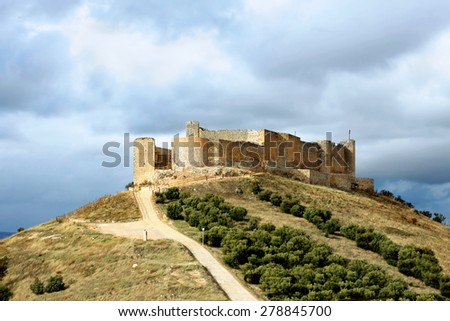 castle of Jadraque. Castile-La Mancha, Spain - stock photo