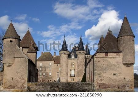 Castle of La Clayette in Burgundy, France - stock photo