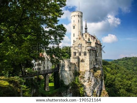 Castle of Lichtenstein  - stock photo