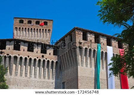 Castle of Montechiarugolo. Emilia-Romagna. Italy. - stock photo