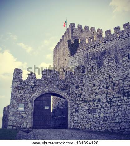 Castle of Montemor-o-Velho, Coimbra, Portugal - stock photo