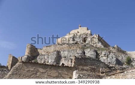 Castle of Morella - stock photo