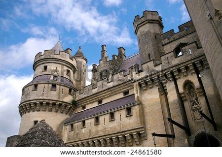 Castle of Pierrefonds, France