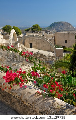Castle of Santa Barbara, Alicante (Spain) - stock photo