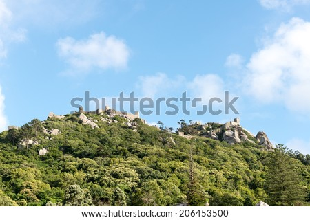 Castle of the Moors, Sintra, Unesco World Heritage (Portugal) - stock photo