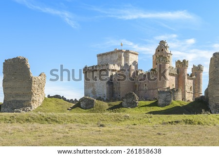 Castle of Turegano, Segovia (Spain) - stock photo