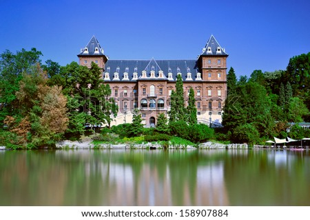 Castle of Valentino in Turin. The Castle of Valentino is an historic building in Turin, Piedmont. Italy.  - stock photo