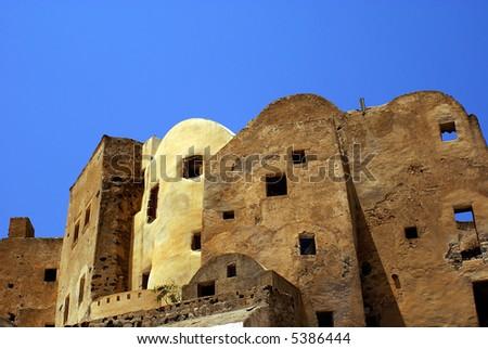 Castle on Santorini island, Greece - stock photo