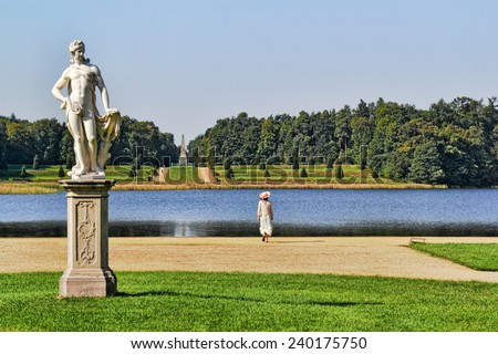 Castle Park Rheinsberg - stock photo