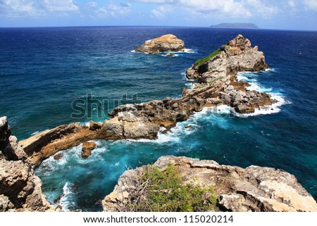 Castle Point, Guadeloupe - stock photo