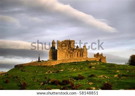 castle rock of cashel - stock photo