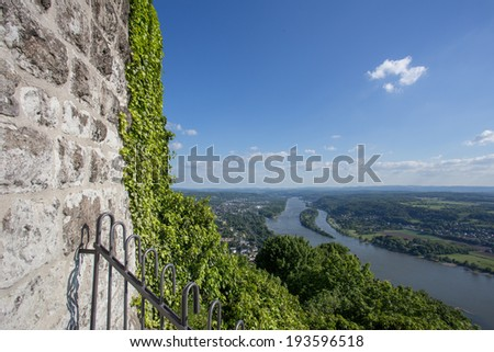 castle ruin drachenfels in koenigswinter gemany - stock photo