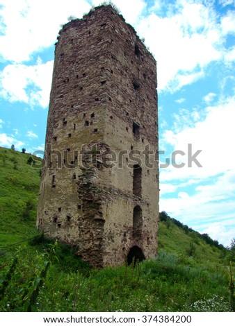 Castle ruins, Ukraine - stock photo