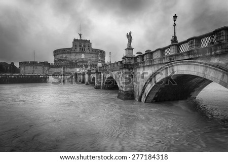 Castle Sant'Angelo in a rainy day - Rome
