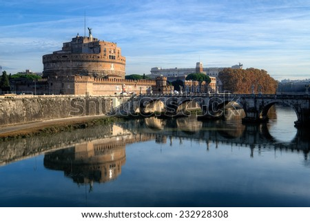 Castle Sant'Angelo, Rome, Italy - stock photo