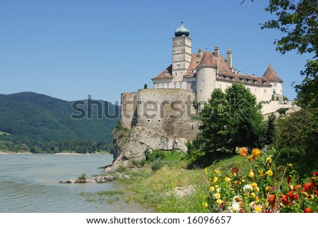 castle Schonbuhel on the Danube,Austria - stock photo