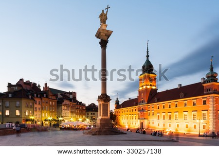 Castle Square and Column in Warsaw, Poland