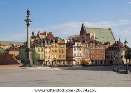 Castle Square in Warsaw, Poland  - stock photo