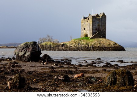 Castle Stalker - Scotland - stock photo