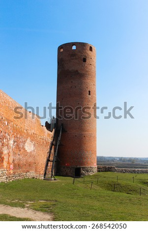 Castle Tower, Poland, Czersk - stock photo