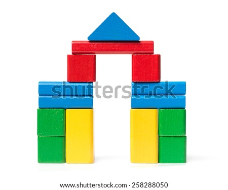 Castle Toy Blocks - stock photo