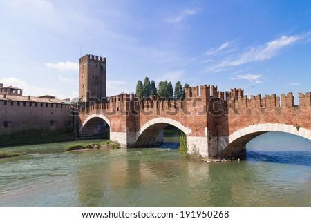 Castle Vecchio in Verona, Italy - stock photo