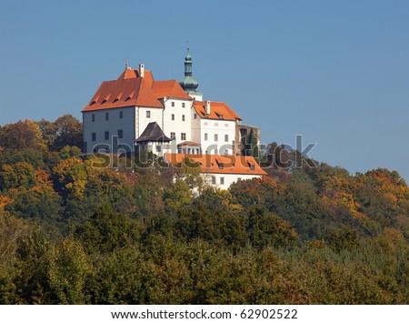 Castle Vysoky Chlumec, Bohemia - stock photo