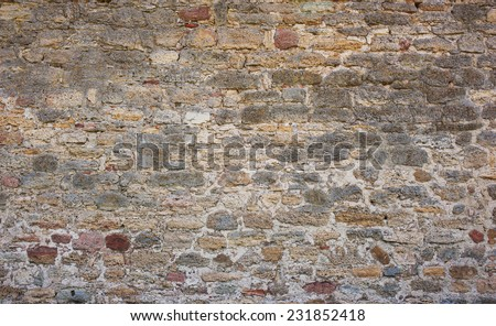 Castle wall texture - stock photo