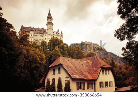 castle (Warm filter) - stock photo
