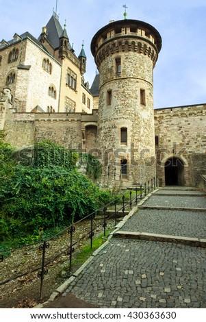 Castle Wernigerode in Germany. - stock photo