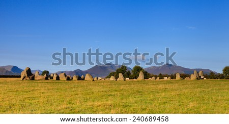 Castlerigg Stone Circle.  Castlerigg Stone Circle is situated near Keswick, Cumbria in the English Lake District national park.