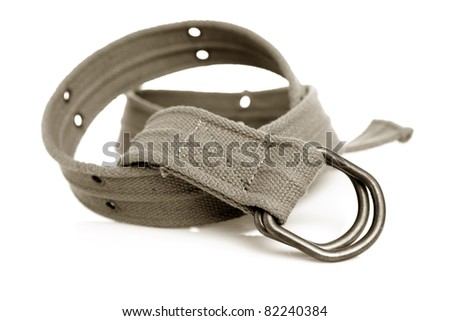 Casual belt isolated on white background.