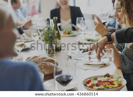 Casual Catering Discussion Meeting Colleagues Concept - stock photo