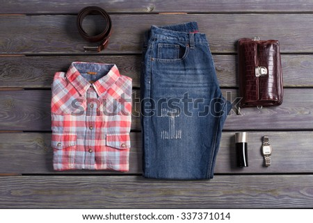 Casual collection of stylish men. - stock photo