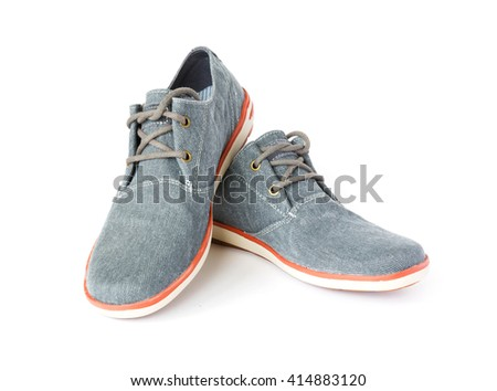 casual fabric shoes isolated - stock photo