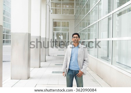 casual indian male - stock photo