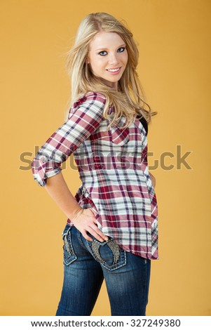 Casual jeans and shirt - stock photo