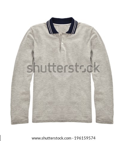 Casual male sweater. Isolated on a white background.