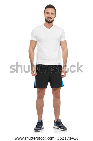 Casual man in sport clothing - stock photo