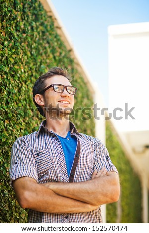 casual man in the city - stock photo