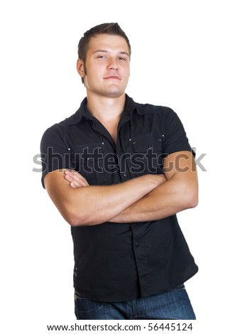 casual man portrait on the white background