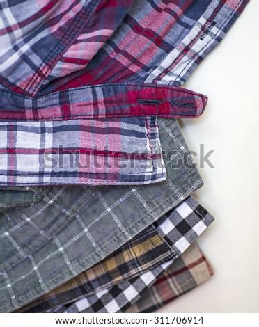 Casual men's shirts - stock photo