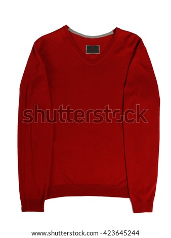 casual men's sweater - stock photo