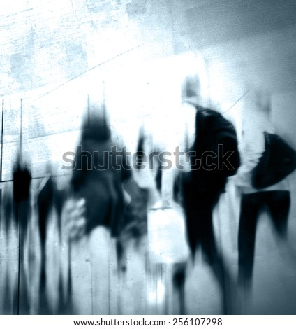 Casual People Rush Hour Walking Commuting City Concept - stock photo
