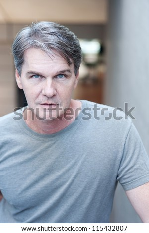 casual portrait of a mature, experienced man