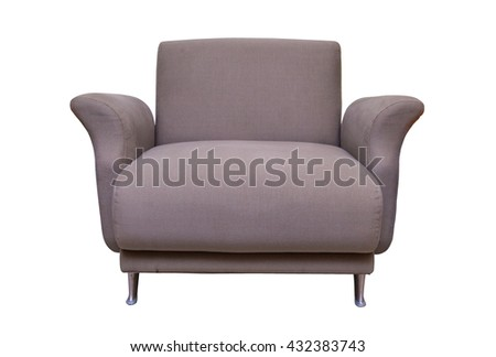 casual sofa in living room isolate on white background.