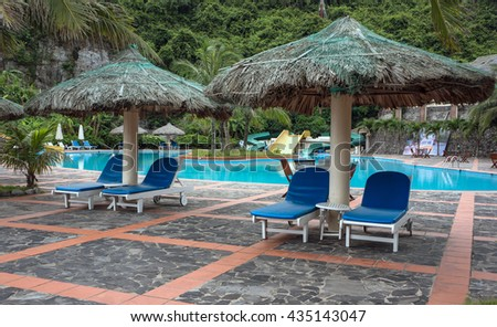 CAT BA, VIET NAM, June 10, 2016 luxury resort, in the Bay Cat Ba, Hai Phong, Vietnam