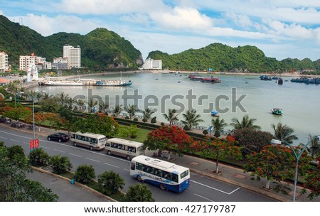 CAT BA, VIET NAM, May 27, 2016 Bay Cat Ba, Hai Phong City, Vietnam